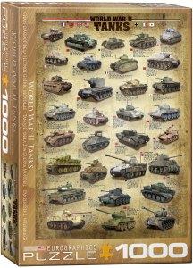 World War II Tanks. Puzzle Vertical, 1000 pz. Marca Eurographics. Ref: 6000-0388.