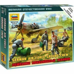 Zvezda - Pilotos y personal de aeródromo Luftwaffe. WWII. Escala 1:72. Ref: 6188.