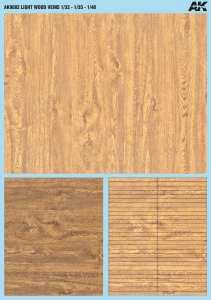 AK Interactive - Calcas de madera con vetas. Escala 1:32, 1:35 y 1:48. Tamaño A5. Ref: AK9082.
