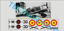 "Calcas Avión Polikarpov I-16 "" MOSCA "". Verde-Aluminio Aviación Nacional. Escala 1:32. Marca Trenmilitaria. Ref: 000_5572."
