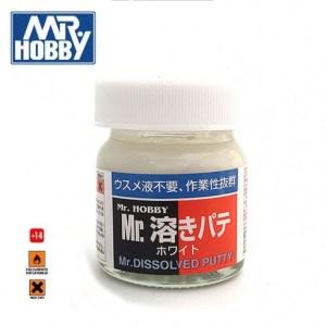 Mr.DISSOLVED PUTTY , Masilla fluida. Bote 40 ml. Marca MR.Hobby. Ref: P119.