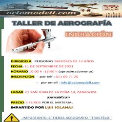 Taller de aerógrafia de iniciación dia 11 de septiembre 2021.
