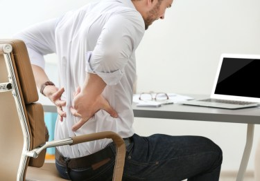 Back pain from uncomfortable office chair