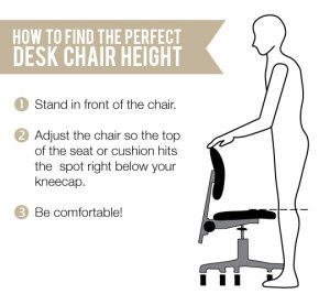 proper office chair seat height