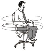 Spinning in chair