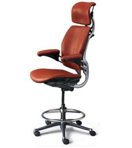 A pretty awesome looking drafting chair.