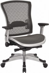 An ergonomic chair with lumbar support.