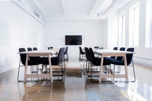 Keep an open floor plan for your meeting space