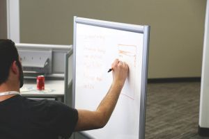 Use mobile whiteboards to help create privacy