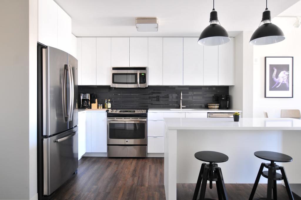 Decoração interior cozinha moderna