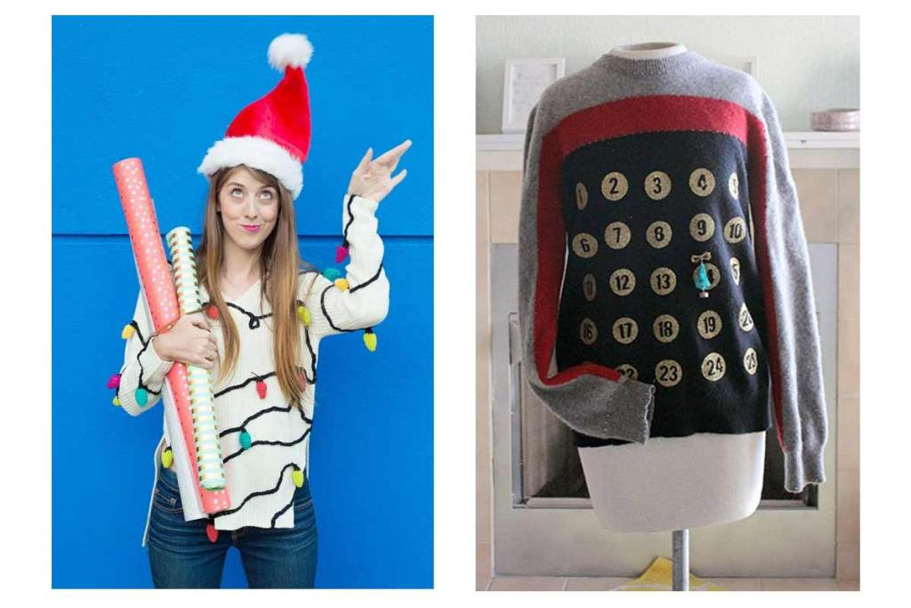 Ideias de camisolas de natal DIY