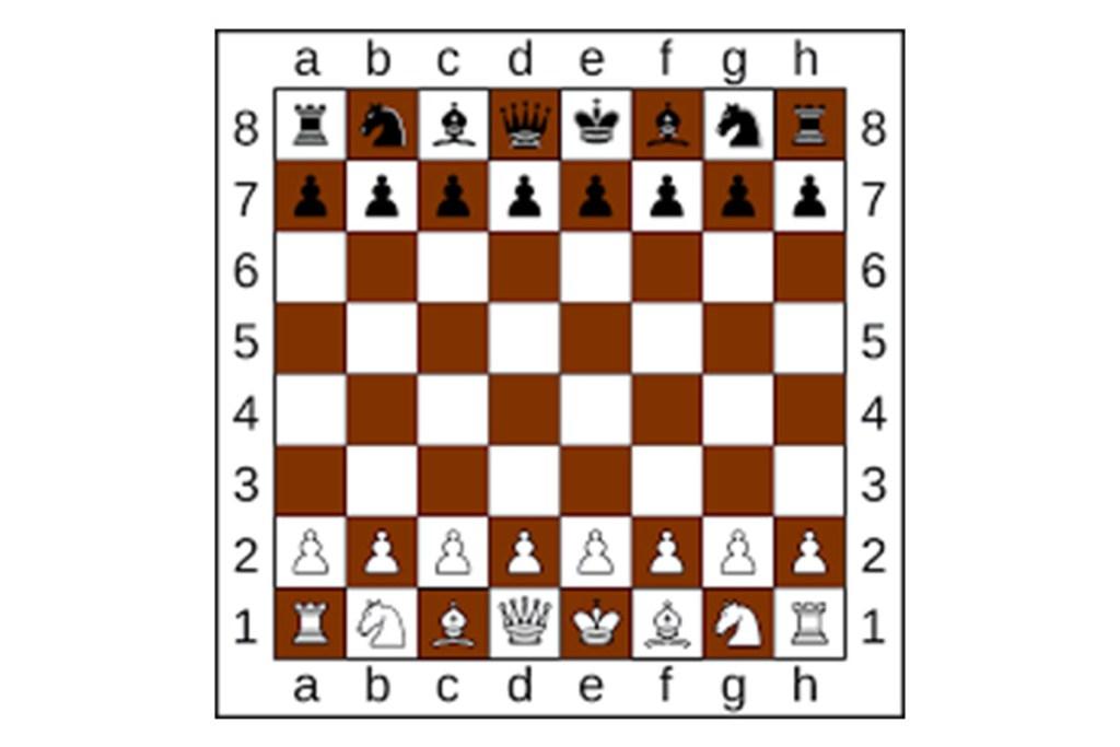 Tabuleiro de xadrez e peças