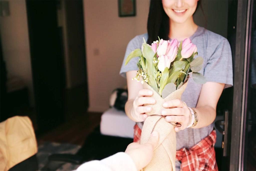 Flores prendas para o dia dos namorados