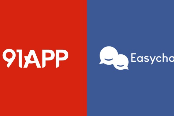 91app and easychat become partner