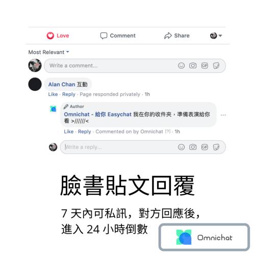 Facebook Messenger 24 政策:貼文回覆
