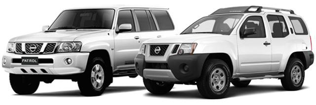 Nissan SUVs Patrol and Xterra 4x4