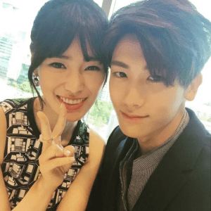 Lim Ji Yeon with High Scoiety co-star Hyungsik.