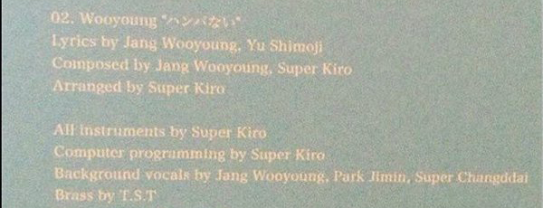 15& Jimin in Wooyoung's japanese album