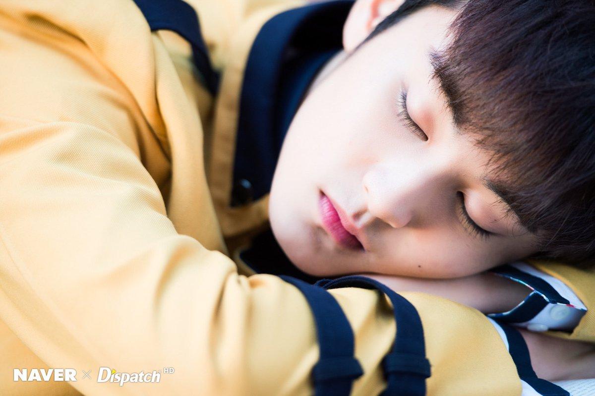 Mark Lee sleeping