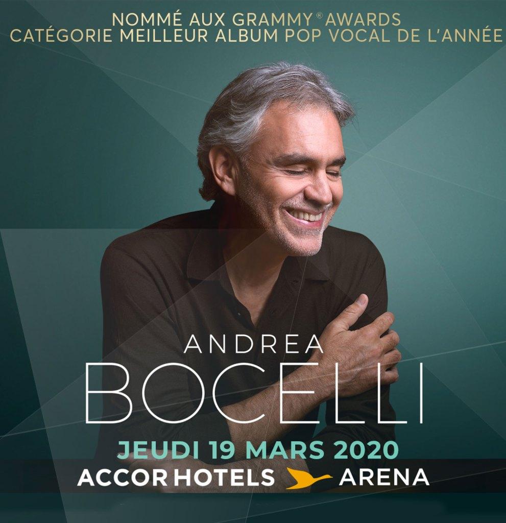 Andrea Bocelli à l'AccorHotels Arena