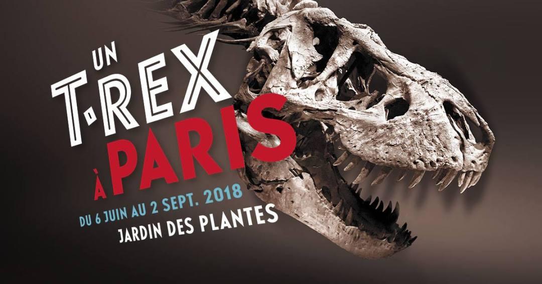 un T-rex à Paris - affiche