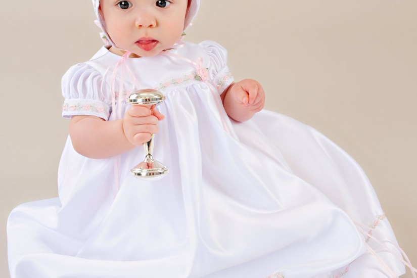Mandi Satin Christening Dress