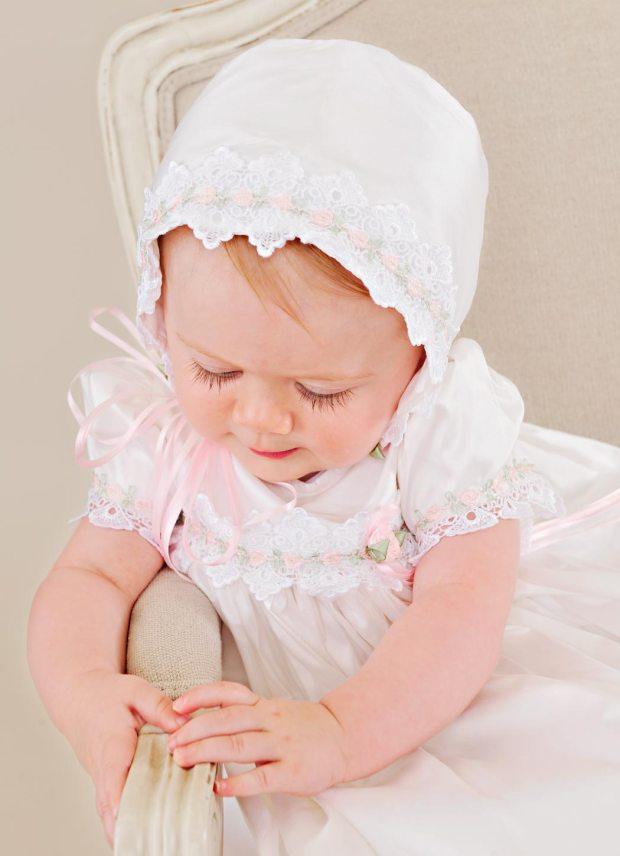 Silk Tess Christening Gown