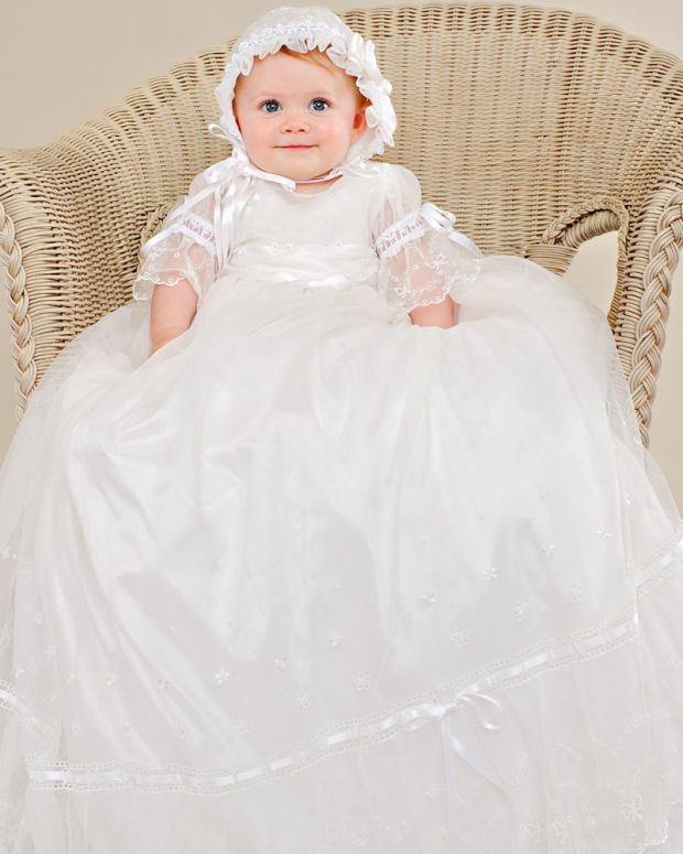 Natalia Silk Baptism Gown