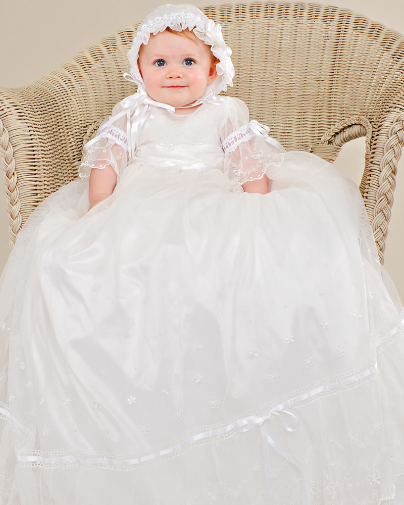 Natalia Silk Baptism Gown