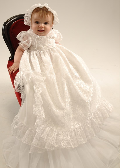 Lucy Lace Christening Dress