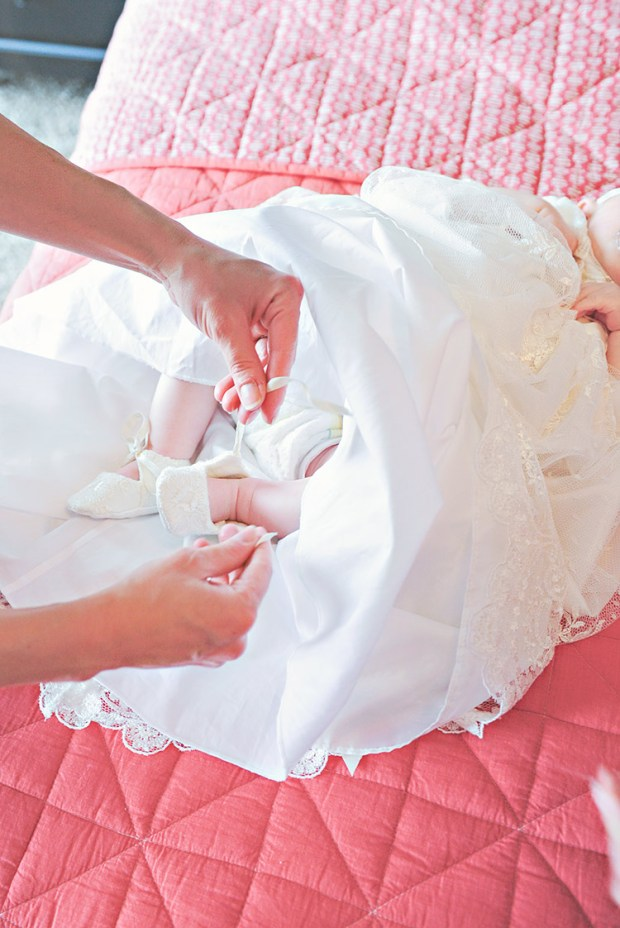 Memory Slippers | Ivory Lace Shoes for Baby Girls at One Small Child