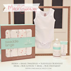 March Giveaway | Baby Products at One Small Child