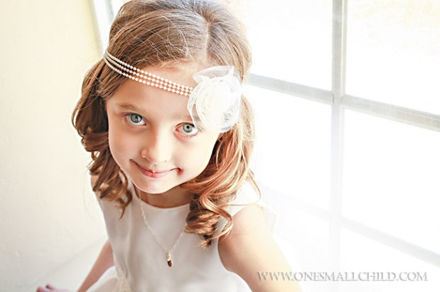 Pearl Headwrap First Communion Headbands for Girls