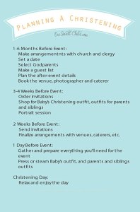 Planning A Christening Checklist