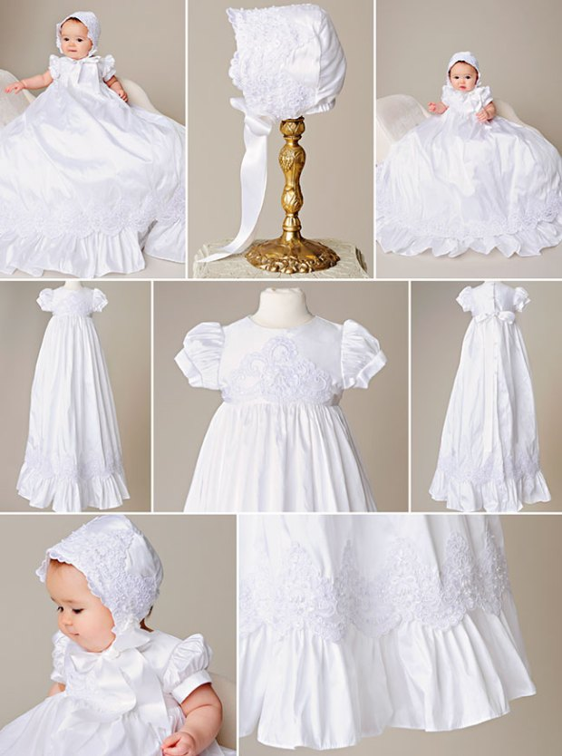 Esther Silk Christening Gown by One Small Child