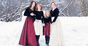 Women's and Girls holiday skirts by Katy Lane Collection