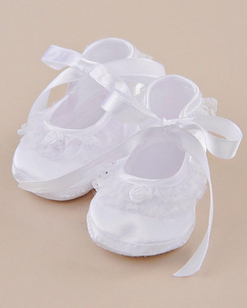 Lace Ruffle Satin Slippers
