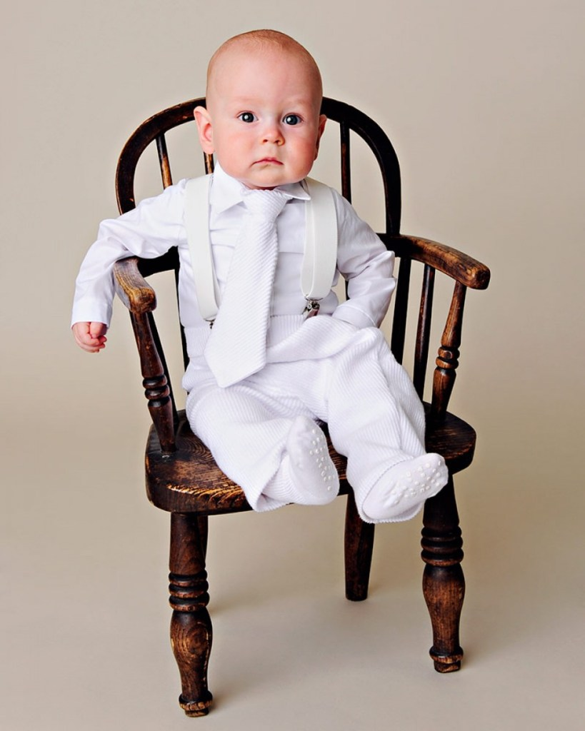 Payton Suspender Christening Outfit