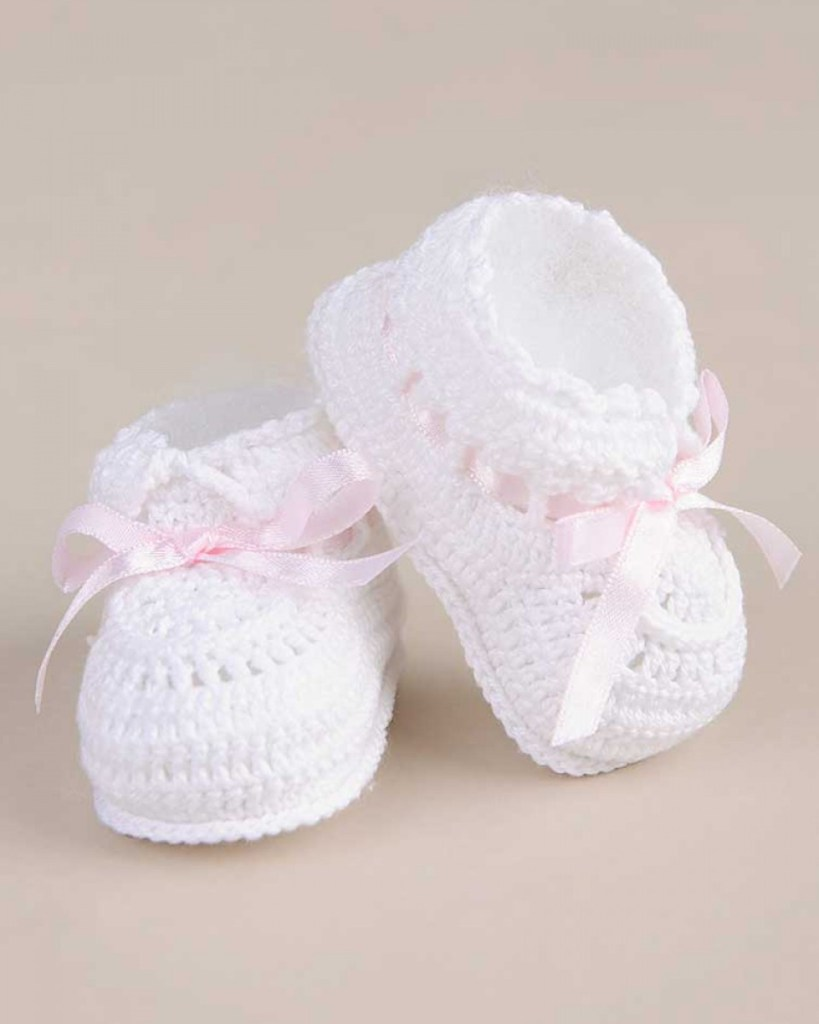 Ribbon Crochet Booties