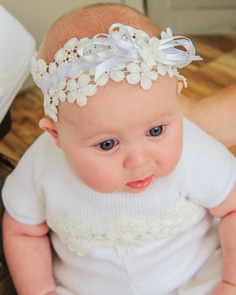 Amber After-Christening Headband for Baby Girls