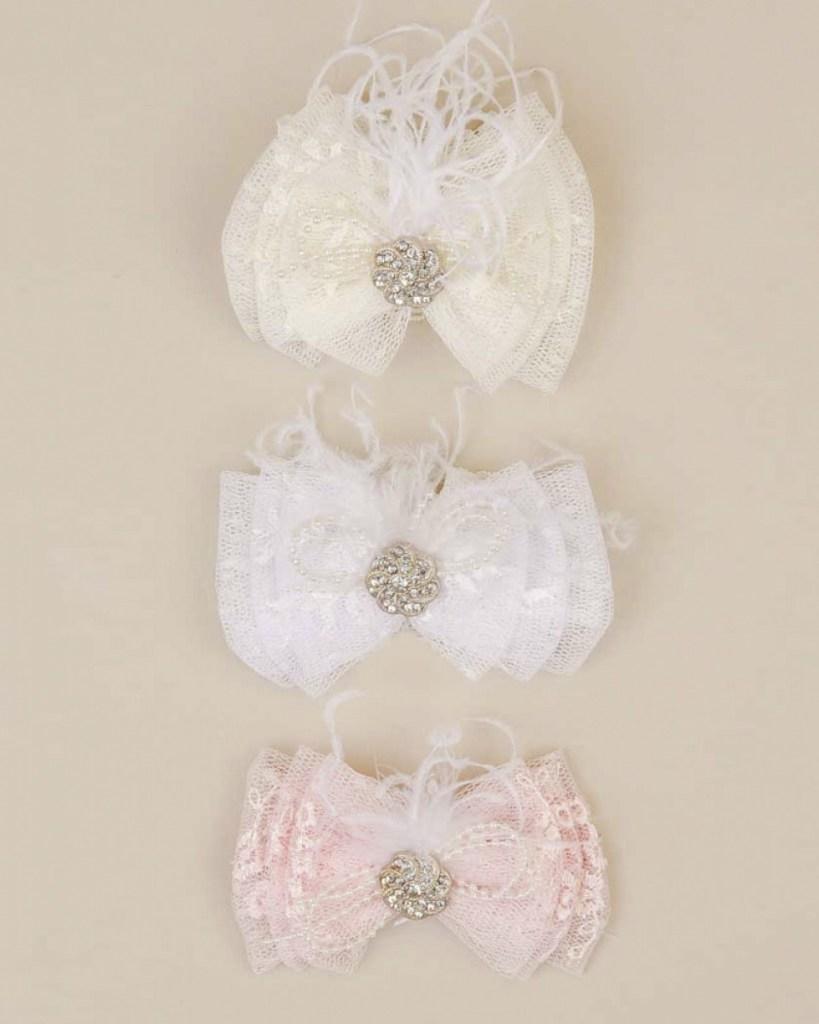 Jewel Lace Bow Headband
