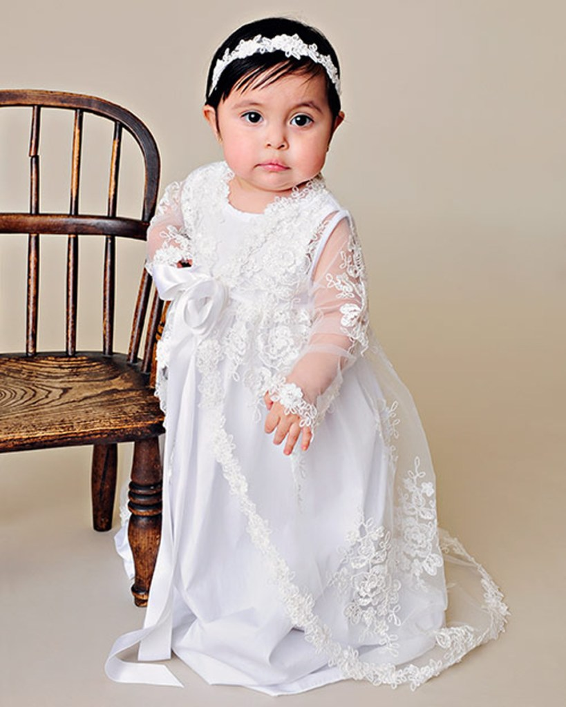 Sadie Lace Christening Jacket