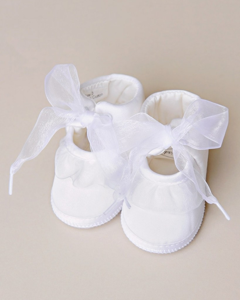 Satin Ruffle Slippers