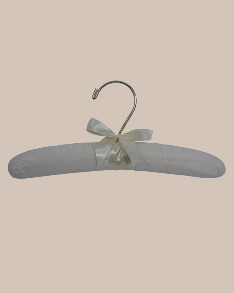 "10"" Muslin Hanger with Gold Hook"