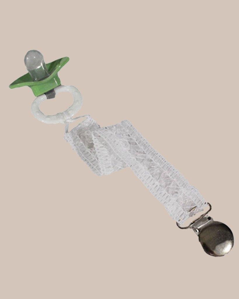 Unisex Universal Elegant and Fancy Pacifier Clip - Lattice Lace