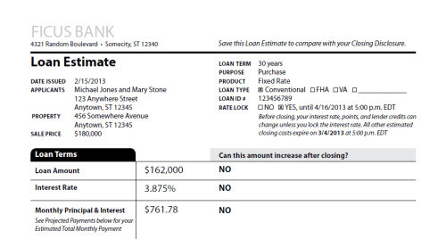 Loan Estimate Preview