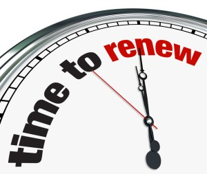 time to renew clock