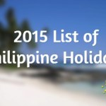 2015 List of Philippine Holidays