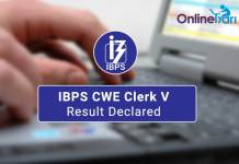IBPS CWE Clerk V Result Out