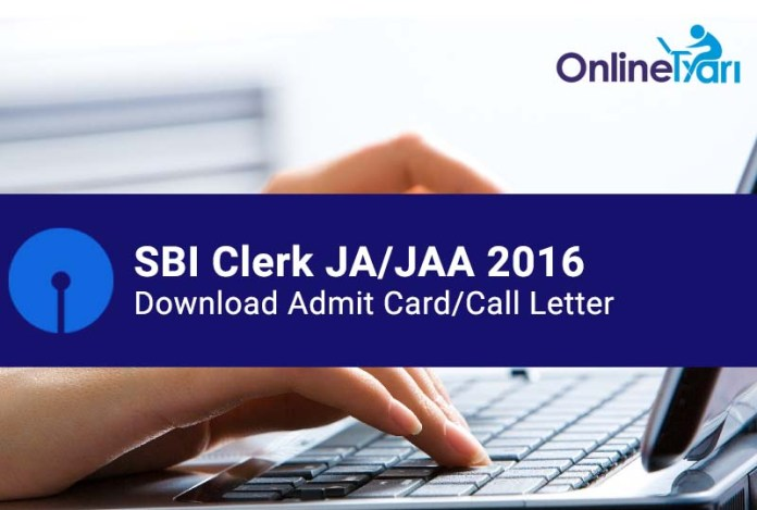 Download SBI Clerk Admit Card - SBI JA Prelims Hall Ticket